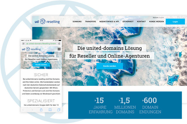 Webdesign-Projekt united-domains Reselling